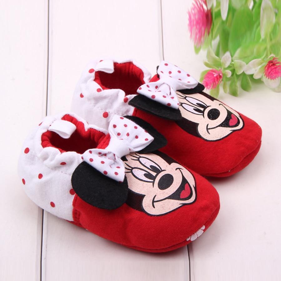 Merk Baby Meisje Schoenen Cartoon Minnie Loafers Pasgeboren Crib - Baby schoentjes - Foto 5