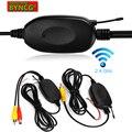 BYNCG W0 2,4 ГГц беспроводной RCA видео передатчик и приемник для автомобиля камера заднего вида монитор передатчик и приемник адаптер