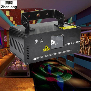 Remote 3D 250mW RGY DMX512 Laser Scanner Projector Light DJ Disco Party Xmas Professional Stage Lighting Effect Show Lights alien remote dmx512 200mw rgy laser stage lighting scanner effect dance dj disco party show light xmas projector lights