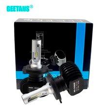 Geetans 2pcs H4 H7 LED Car Headlight 9006 9007 9008 H1 H3 H13 H11 H27 880 Auto COB light 6500K 50W 4000LM for all car DB