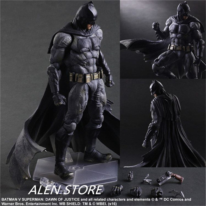 ALEN Play Arts KAI Batman v Superman Dawn of Justice NO.1 Batman PVC Action Figure Collectible Model Toy 25cm xinduplan dc comics play arts kai justice league batman reloading dawn justice action figure toys 25cm collection model 0637