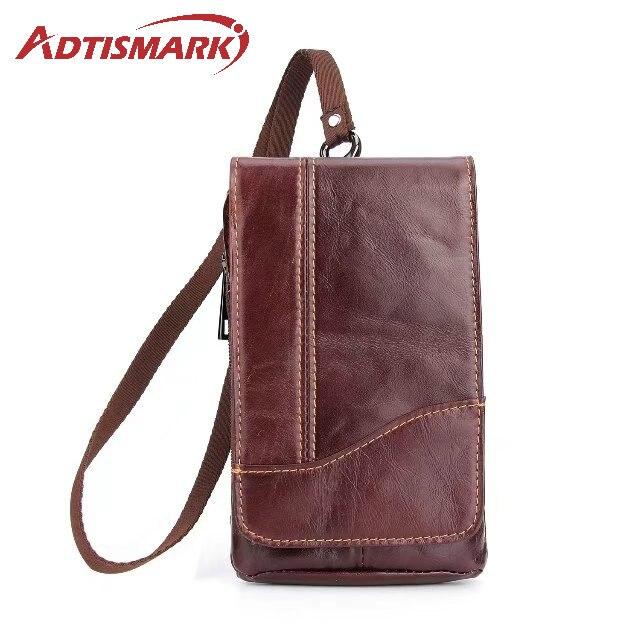 Adtismark Leather Pouch Belt Clip Hook Loop Shockproof Phone Case Cover Bag Holster For Multi Smart Phone Smartphone