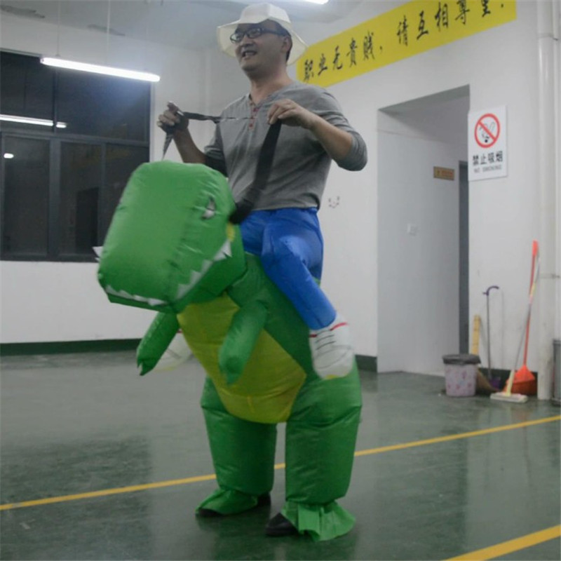 So Cool! Inflatable Dinosaur Costume Cosplay Halloween Costume For Man MASCOT