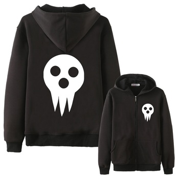 Anime Cos Soul Eater MAKA ALBARN Coat hoodie feece jacket winter Soul Eater Black Star thick mens hoodie jacket фото