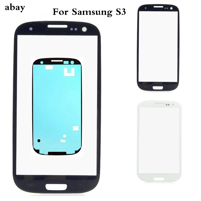 Outer <font><b>Glass</b></font> For <font><b>Samsung</b></font> <font><b>Galaxy</b></font> S3 i9300 i9305 i9300i i9301 i9301i Front Panel Lens Outer <font><b>Glass</b></font> LCD + Adhesive <font><b>Replacement</b></font> Parts image