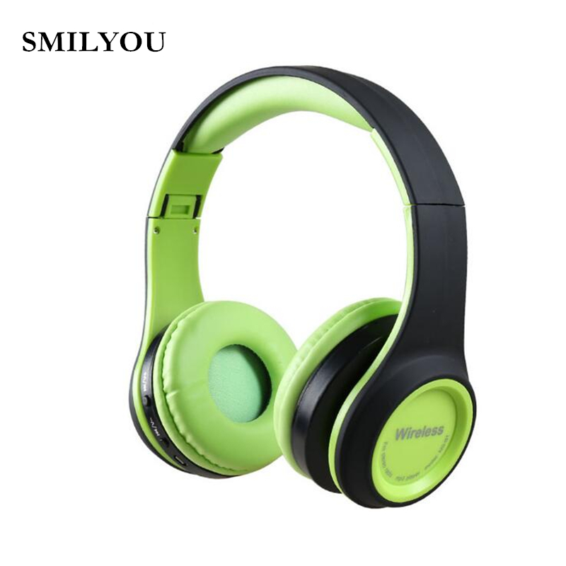 SMILYOU MS991 4.1 Bluetooth Headphones Wireless with Mic Support TF Card FM Radio Stereo Headset For iPhone Samsung Sony Xiaomi 2017 new high end wireless bluetooth headphone stereo headset for iphone samsung xiaomi fm radio tf card mic aux mp3 lcd display