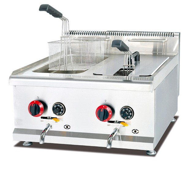 commercial countertop liter clevr fryer machine deep steel ip tank stainless