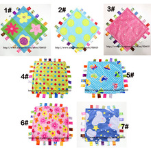 Baby Towels Taggies Blanket Comforting Soft Plush Square 7style 50pcs 30cm Toys New-Arrival