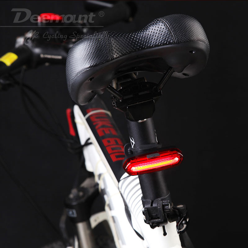 Deemount 100 LM Genopladeligt COB LED USB Mountain Bike Tail Light - Cykling - Foto 4