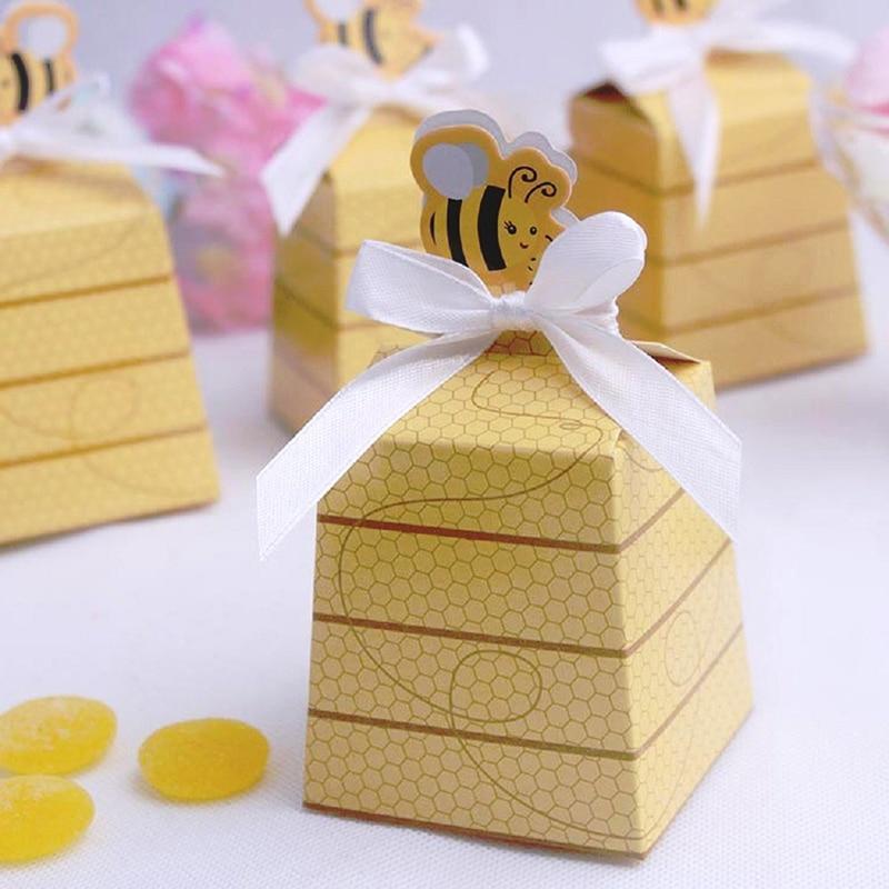 50 PCs Easter Bee Gift Box Ramadan decoration Wedding