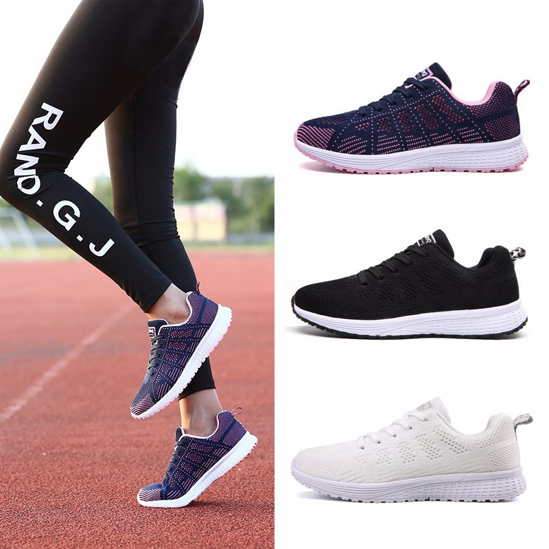 Fashion Women Shoes Breathable Air Mesh Trainers 2017 Spring New Low Toe Sport Casual Shoes Striped Lace Up Women Shoes YD145 (1)