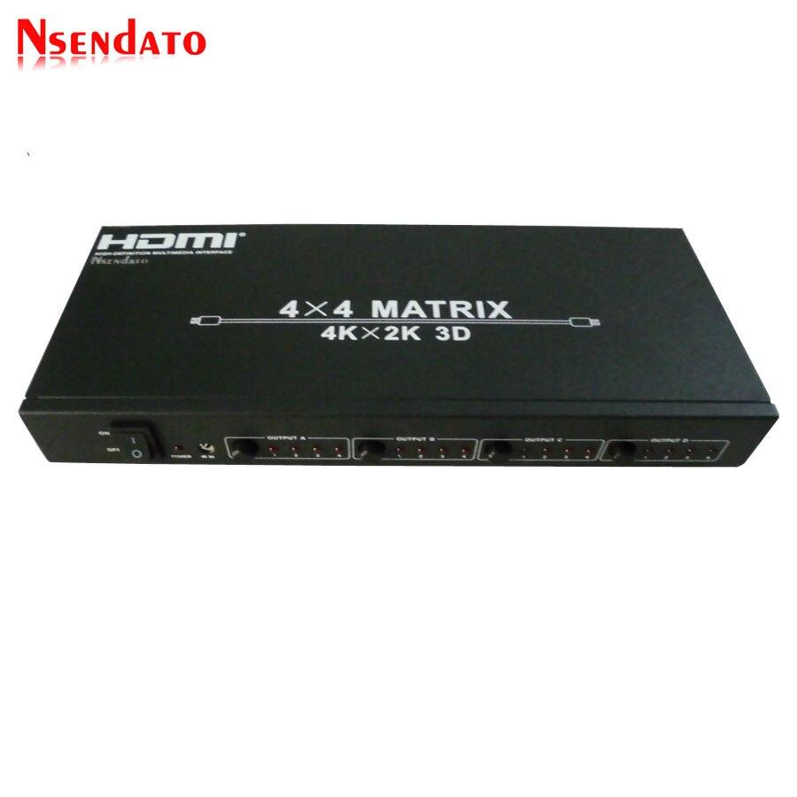 HDMI 4x4 матричный 4k X 2K коммутатор 4 в 4 выхода HDMI RS232 сплиттер поддержка 120 Гц 3D 60 Гц Аудио Видео HDTV HDMI Switcher адаптер