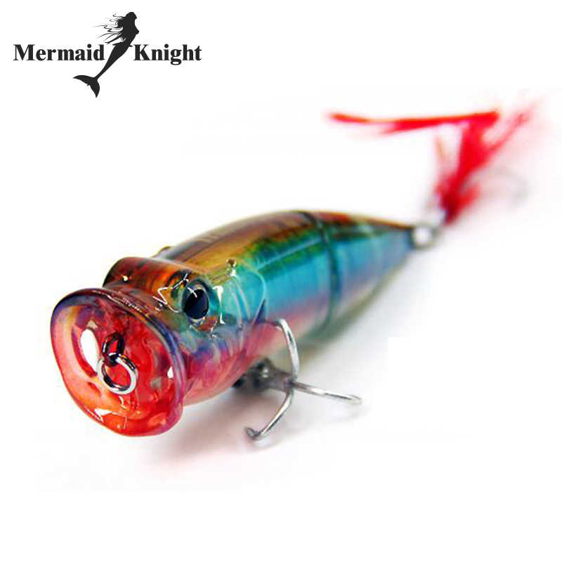 MermaidKnight Fishing Lure Popper 70mm/14g Floating topwater baits Saltwater Artificial Bait crankbait Hard Bait for Fishing