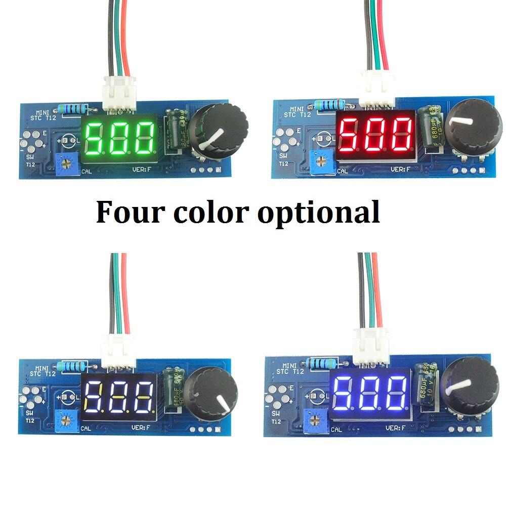 Elektrische Einheit Digitale Lötkolben Bahnhof Temperatur Controller board für HAKKO T12 Griff DIY kits w/LED vibrationsschalter
