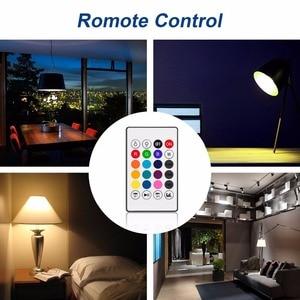 Image 4 - Bluetooth Altoparlante Intelligente Luce E27 LED Bianco + RGB Lampadina Lampada variopinta Musica Audio APP Telecomando o sul Telecomando altoparlante