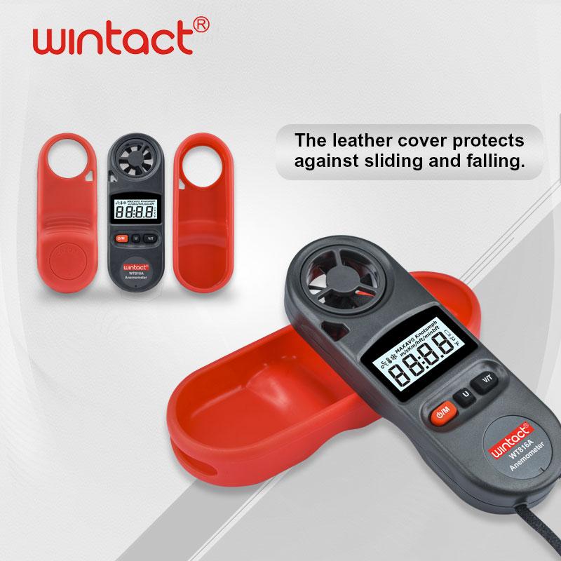 WT816A переносной Анемометр Водонепроницаемость IP67 скорость ветра Анемометр измеритель температуры 30 м/с с ЖК-подсветкой дисплей