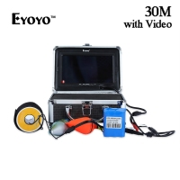 Eyoyo 30M 1000TVL Underwater Fishing Camera Fish Finder With Monitor Sun Visor Infrared IR LED