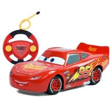 Disney Pixar Cars 3 22cm RC Cars Lighting McQueen Jackson Storm Cruz Ramirez Remote Control Plastic Model Car Gift Toy For Kid