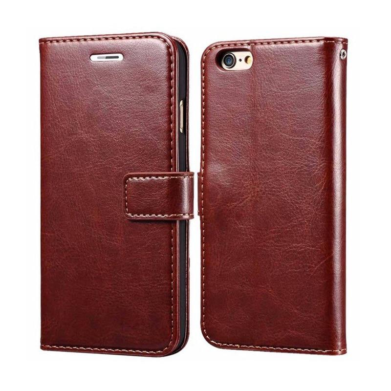 Lyxig PU-läder Flip Wallet-telefonväska för Apple IPhone 6 6S Plus - Reservdelar och tillbehör för mobiltelefoner - Foto 1