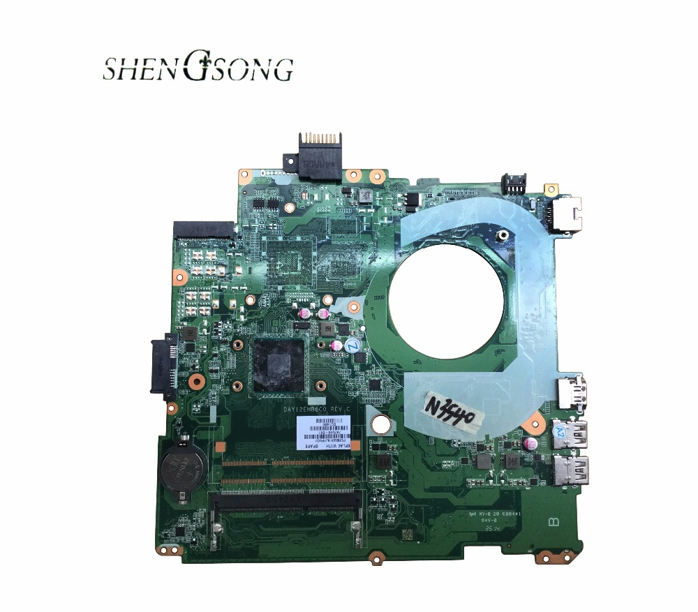 цена 787548-001 Free Shipping DAY12EMB6C0 for HP Pavilion 14-V laptop motherboard 787548-501 SR1YW N3540 100% Tested