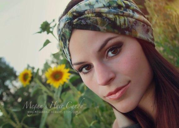 tienda online 2015 impresin de la tela elstica flores para la cabeza de pelo diademas mujeres trenzado nudo turbante diadema scrunchy wraps headwrap banda