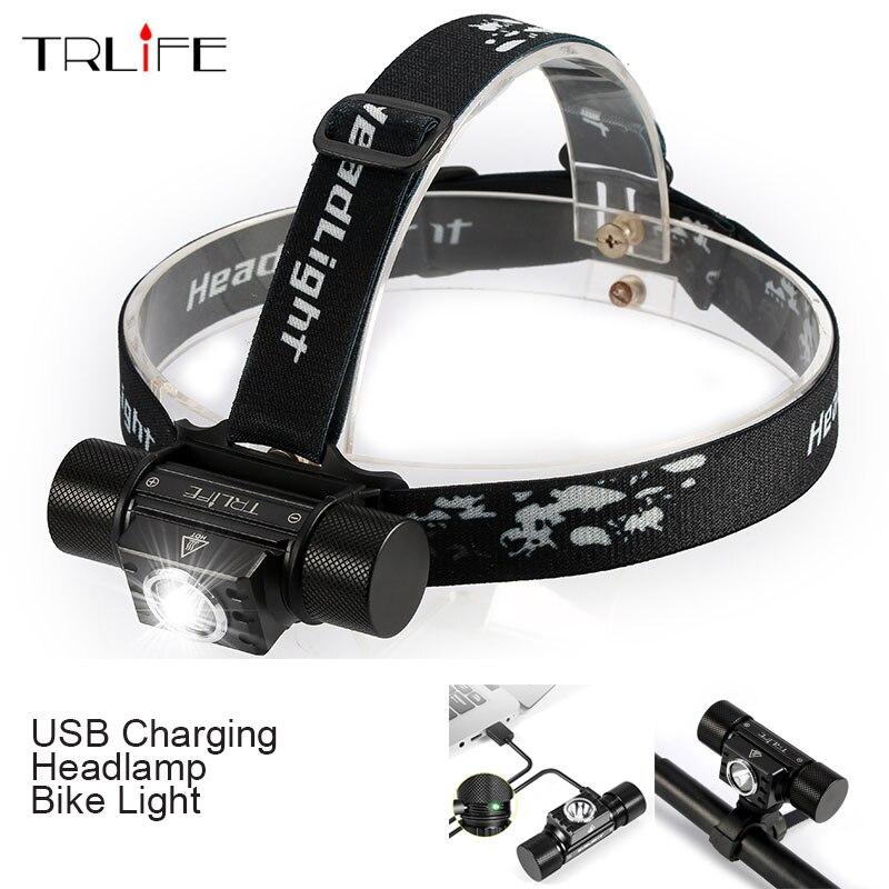 3000 Lumen LED USB faro impermeable luz de la bici del faro con poder inteligente recordatorio