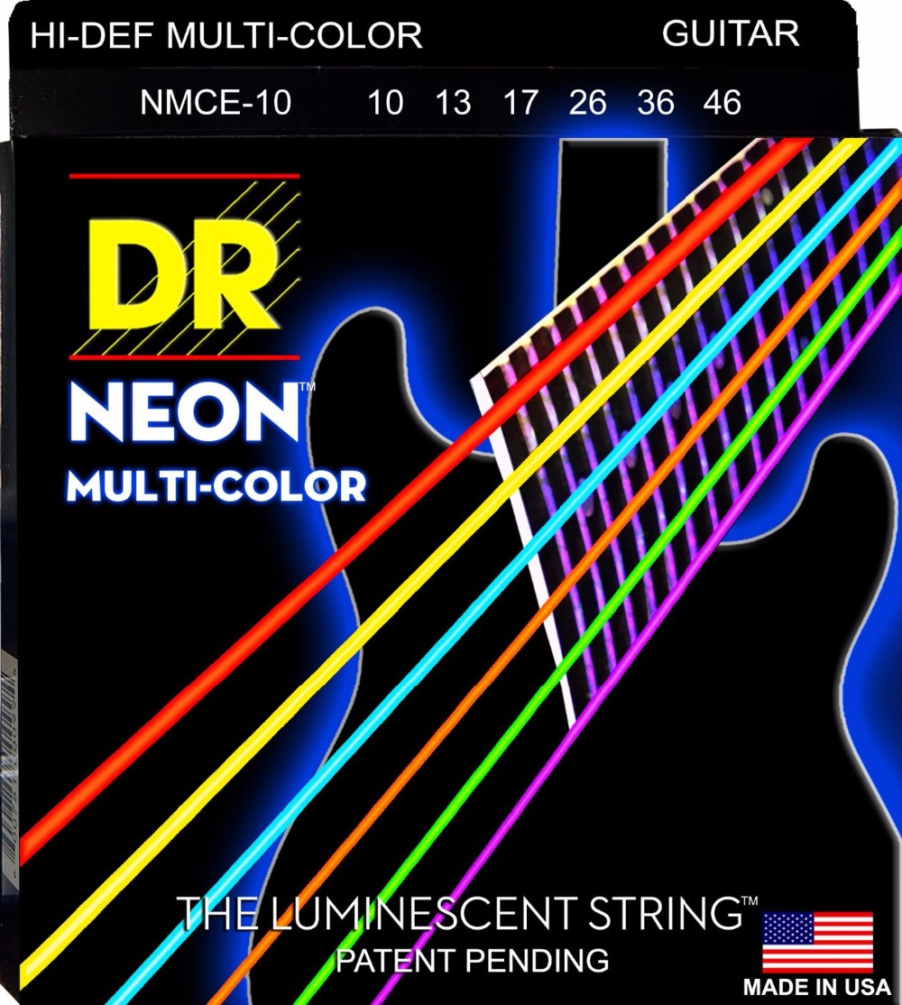 DR Strings Neon Hi-Def K3 Coated Medium Acoustic Guitar Strings 12-54 alice 12 strings guitar strings for 12 strings acoustic guitar stainless core coated copper alloy wound a2012