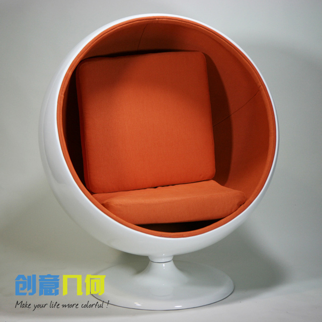 Free Shipping Single Circular Sofa Chairs Minimalist Modern Creative Lovely  Egg Shaped Chair Space Chair