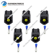цена на 5PCS 1 pin waterproof male and female plug pin DJ70117Y-1.8-21 automotive connector with terminal