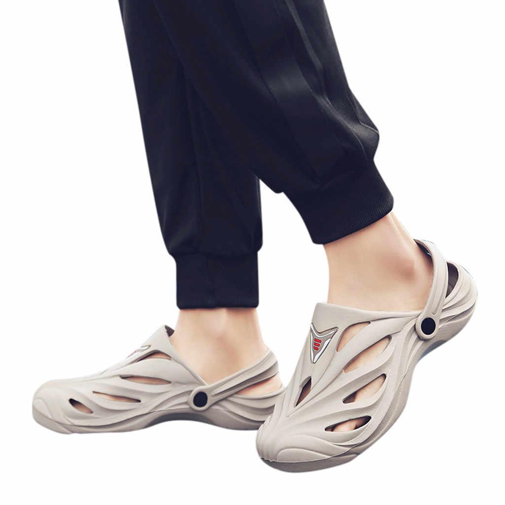 SAGACE Nam Đáy Dày Chống Trơn Trượt Giày Sandal Rỗng Giày Đi Biển Cặp Đôi Mới Bán Đơn Giản Stylebrand Bán Đơn Giản phong cách