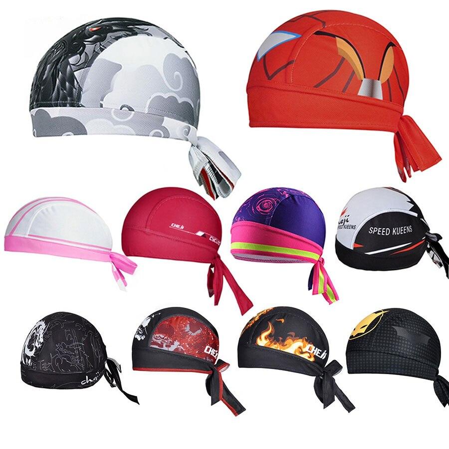 Outdoor Sport Women Men Bike Bicycle Bandana Hat Breathable Sweat Cycling Helmet Cap Skull Pirate Head Scarf Headband Headwear