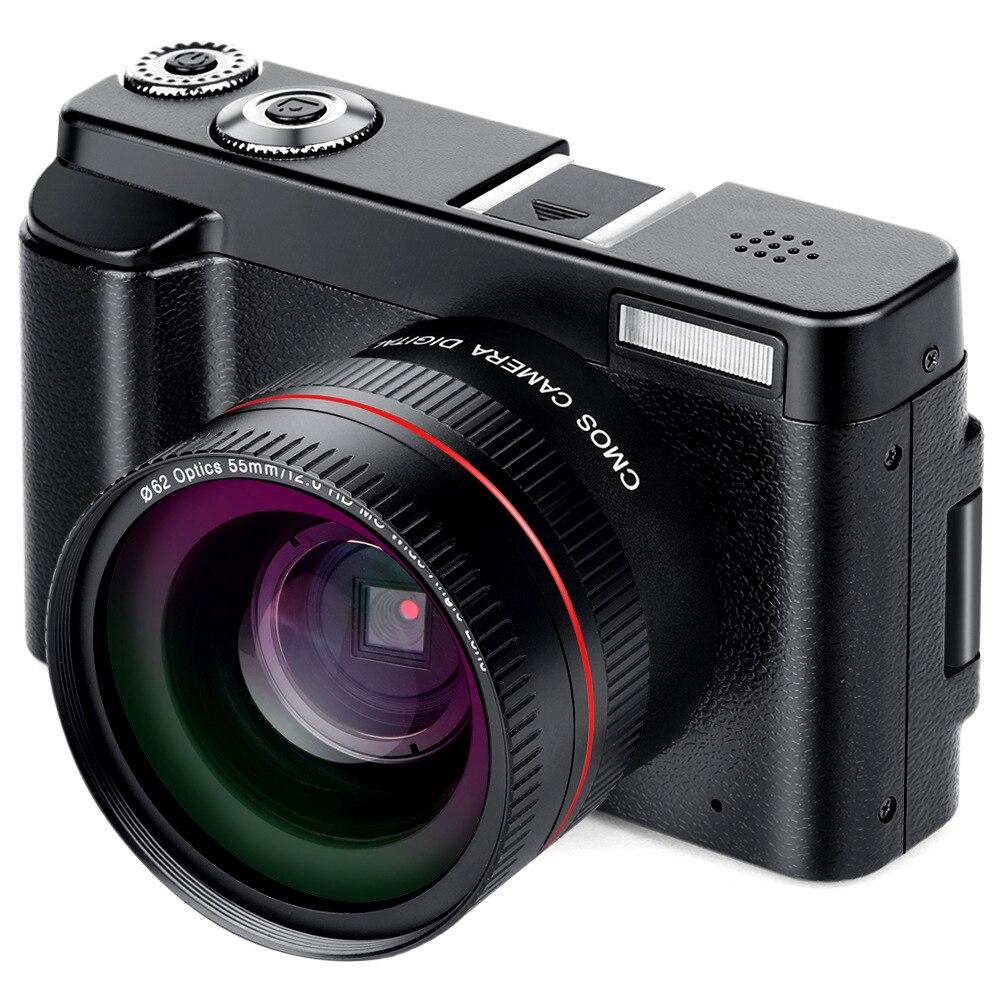 Portable Mirrorless Système Caméras 16X Numérique Zoom 24MP 3.0-Pouces TFT Écran Visage Reconnaissance Anti-shake HD WiFI caméra