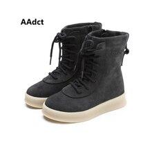 AAdct warm martin girls boots winter cotton boys high boots High-quality fashion kids children boots