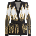 TOP QUALITY 2017 Paris Fashion Designer Jacket Women's Tie Belt Gold Thread Knitting Cardigan Outer Sweater Jacket