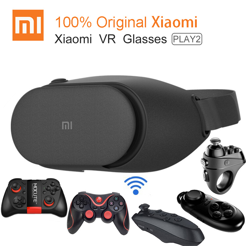 100% оригинал Xiaomi VR play 2 виртуальной реальности Очки погружения 3D Очки для 4.7-5.7 дюймов 1080 P smart телефоны с контроллером