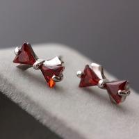 Norfolk Court Jewelry Wholesale Anti Allergy 925 Sterling Silver Stud Earrings Korean Fashion Bow Ear Jewelry