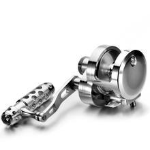 WOEN CNC plein métal usinage tambour type roue de pêche à la traîne Double frein 26 kg mer pêche roue en haute mer pêche bobine EK02  04