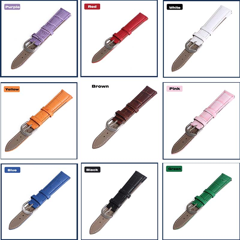 Faixa de relógio de Couro Genuíno straps 12mm 18mm 20mm 14mm 16mm 19mm 22mm relógio acessórios dos homens De Alta Qualidade Brown cores Pulseiras de Relógio