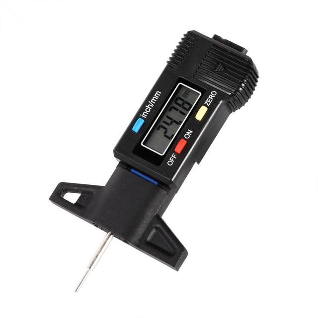 1 sztuk cyfrowy wyświetlacz LCD opona głębokości bieżnika Calip Gauge samochodów zacisk koła głębokości bieżnika hamulca miernik 0-25 4mm narzędzie Hot tanie i dobre opinie Digital Tire Tread Depth Gauge Hilitand Tire Caliper Wheel Tread Depth Brake Gage Car Caliper Car Tire Gauge Tire Depth Gauge