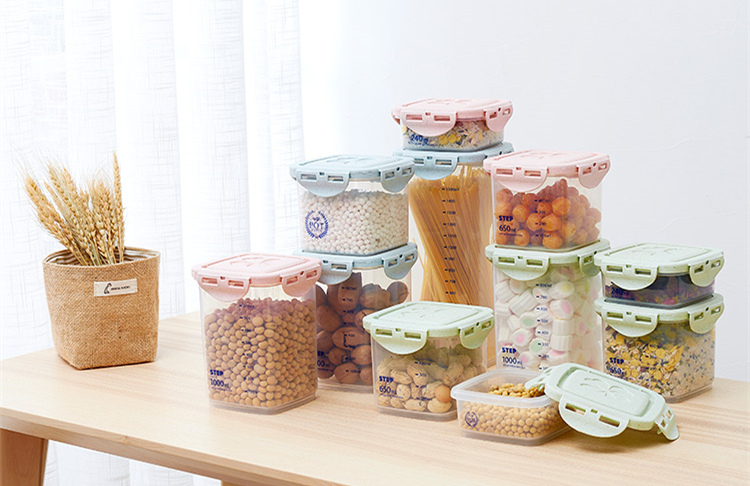 Half Flip Kitchen Container Set and Airtight Food Storage Box Storage for Preservation of Cereals 17