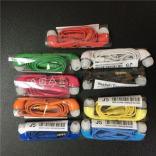 20pcs/lot J5 Sport Earphone Wholesale Wired Super Bass 3.5mm Crack Stereo Headset  For Samsung Galaxy Htc Xiaomi Phones