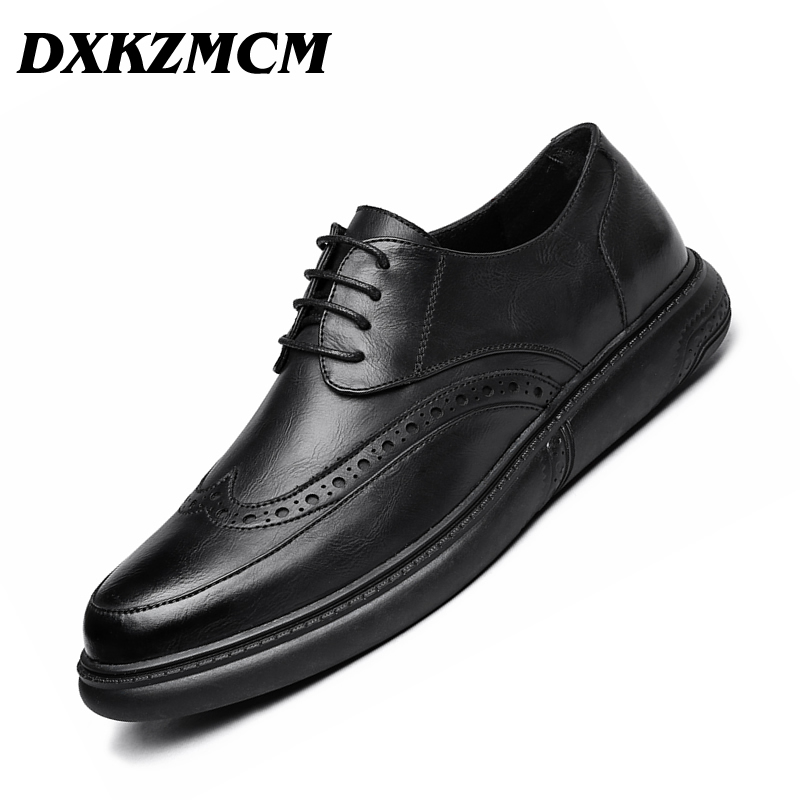 DXKZMCM Handmade Men Dress Shoes Formal Wedding Leather Shoes Retro Brogue Business Office Mens Flats OxfordsDXKZMCM Handmade Men Dress Shoes Formal Wedding Leather Shoes Retro Brogue Business Office Mens Flats Oxfords