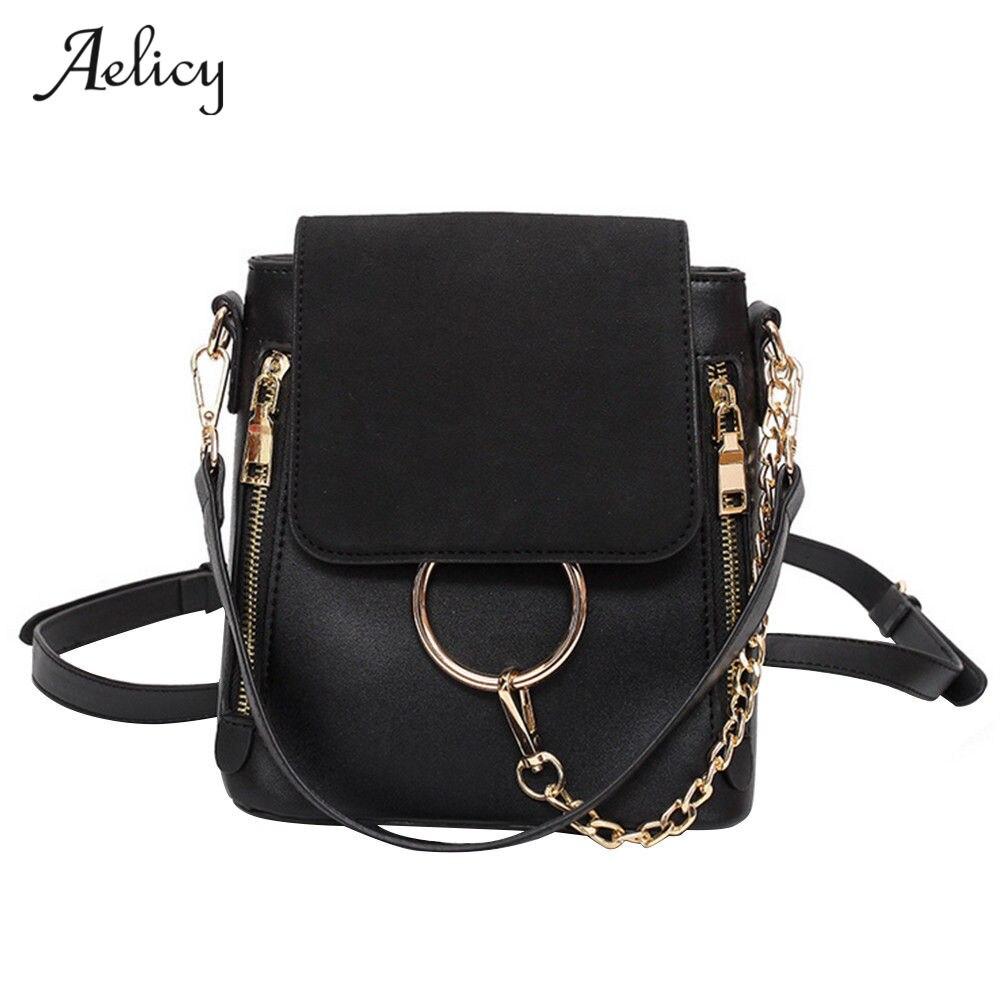 Aelicy High Quality Scrub PU Leather Women Crossbody Bag Fashion Luxury Handbags Women Bags Designer Crossbody Bags Luxury 2017