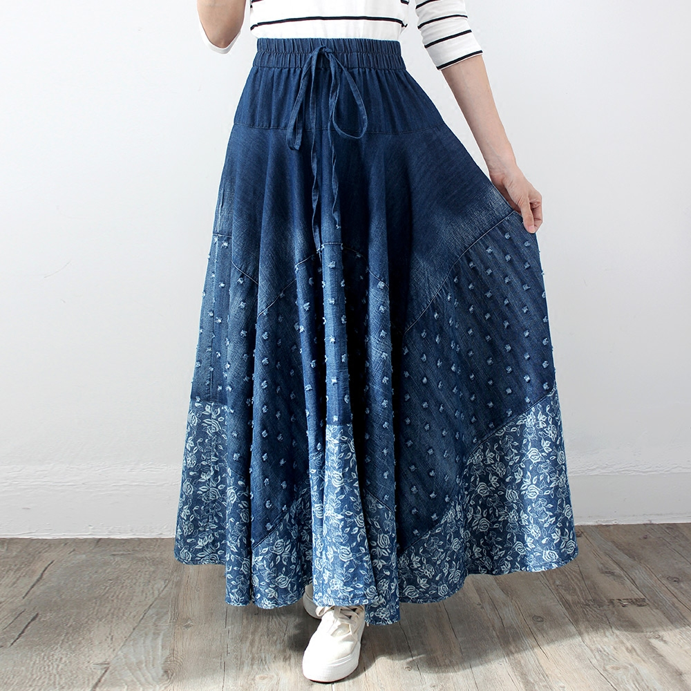 2019 Long Maxi A-line Skirts Women's Skirts