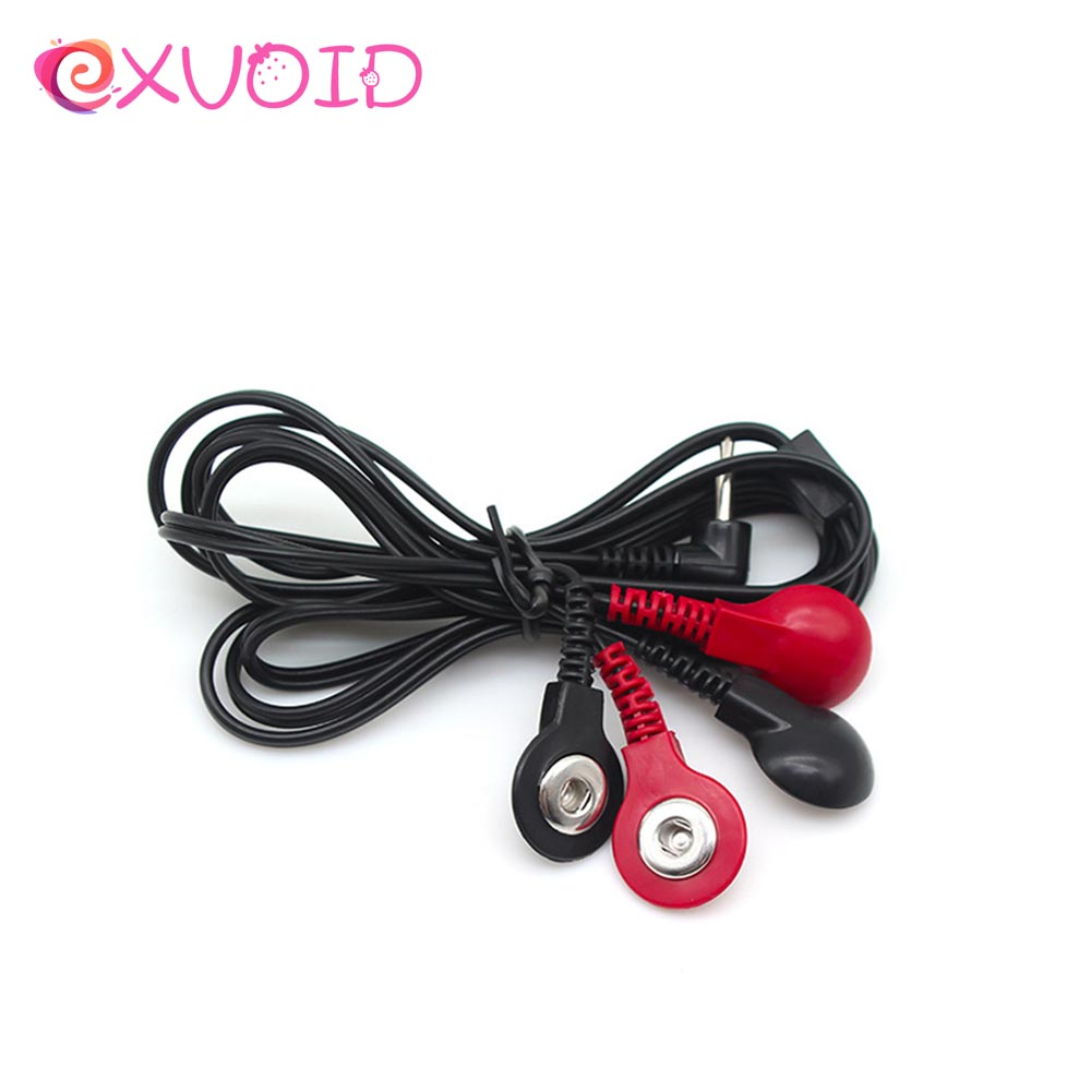 EXVOID Electric Shock Accessories 4 Button Connector Conversion Cable Wire Therapy Massage Sex Toys For Couples Adult Game