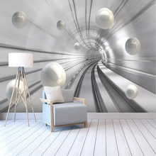 Custom Photo Wallpaper Modern Abstract Tunnel Space Sphere 3D Background Wall Mural Living Room Bedroom Home Decor Wall Papers(China)