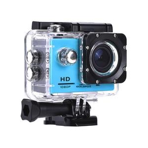 Image 1 - 1080P מיני ספורט פעולה מצלמה לטיפוס רכיבה 2 אינץ LCD מסך 120D ללכת עמיד למים פרו DV DVR וידאו הקלטת קסדת מצלמה