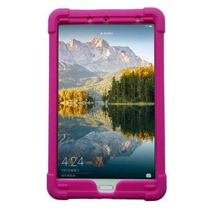 Image 3 - MingShore 견고한 아이 친화적 인 충격 방지 실리콘 커버 케이스 화웨이 MediaPad M5 8.4 인치 SHT AL09 SHT W09 태블릿