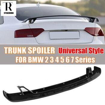 Углеродное волокно универсальный стиль спойлер на задний багажник, крыло для BMW 2 3 4 5 6 7 серии F22 F87 E90 E92 F30 F32 F36 & M2 M3 M4 M5