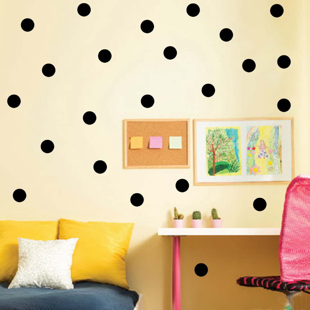 Deoxygene Polka Dots Wall Sticker Baby Nursery Stickers Kids Polka ...